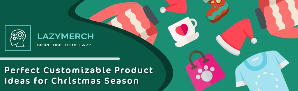 Blog banner for cusomizable product ideas for christmas