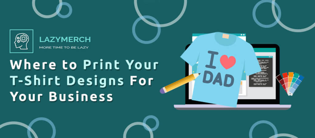 Blog banner about where to print designs for merch business